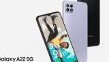 Nové mobily Samsung Galaxy A22 a Samsung Galaxy A22 5G se liší nejen v 5G